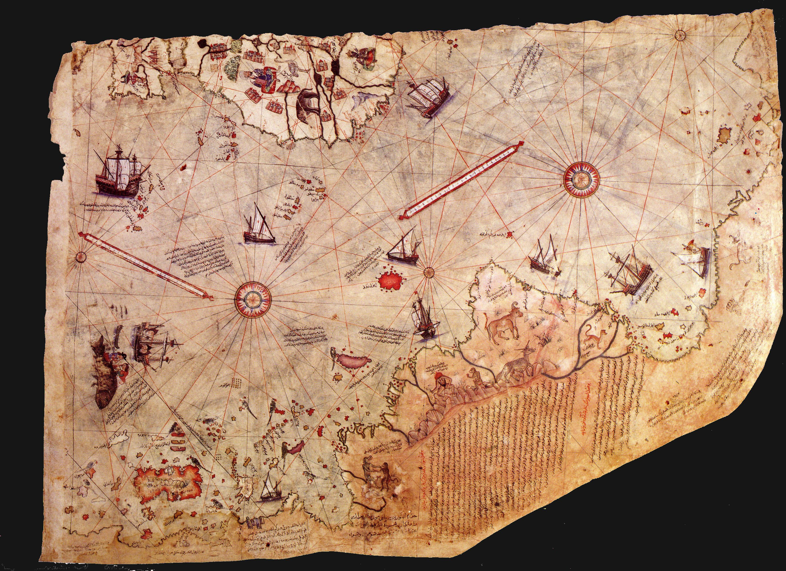 The art of maps piri reis map mapsysfo mapsysfo click thecheapjerseys Image collections