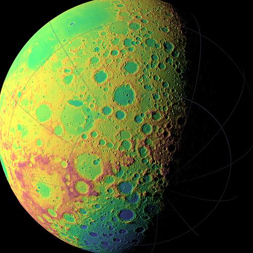NASA's LRO Creating Unprecedented Topographic Map of Moon