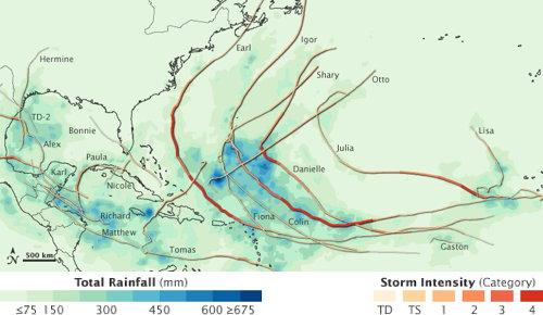 Hurricane rainfall