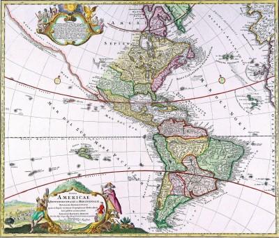 Johann Baptiste Homann - Totius Americae Septentrionalis