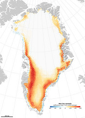 Record Melting in Greenland during 2010