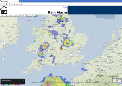 Rain Alarm Map
