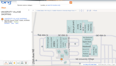 Mall Maps in Bing Maps