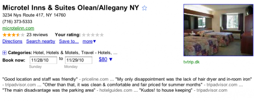 Google Places Hotel Booking Feature