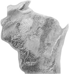 Woodward's Wisconsin relief map