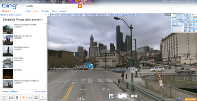 Bing Maps Streetside Mode