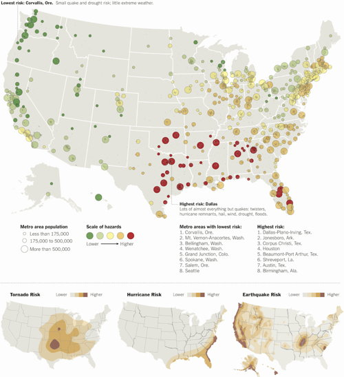 New York Times: Where to Live to Avoid a Natural Disaster
