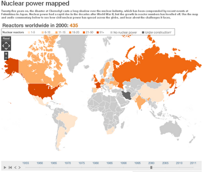 BBC Nuclear power mapped