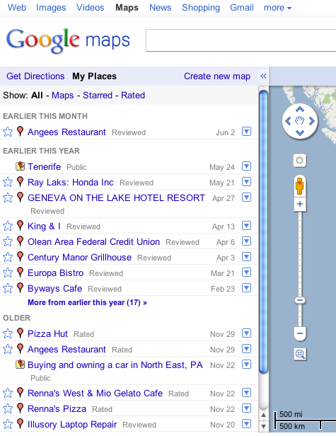 New google My Places