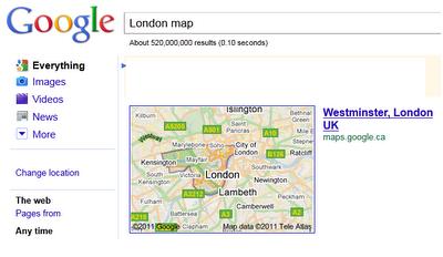 London Map Box Boundary
