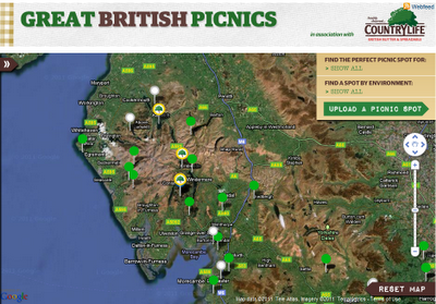Great British Picnics Map