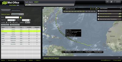 Met Office Storm Tracker Historic Tracks