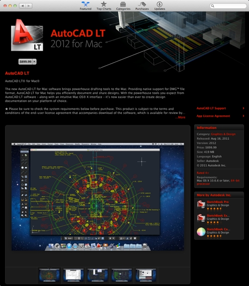 AutoCAD LT 2012 for Mac in the App Store