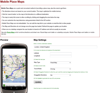 Map Channels Mobile Place Maps