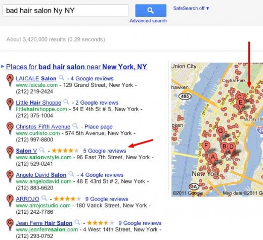 Bad hair salon NY search