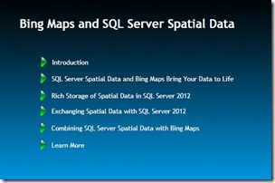 Snacks Bing Maps and SQL Server Spatial Data